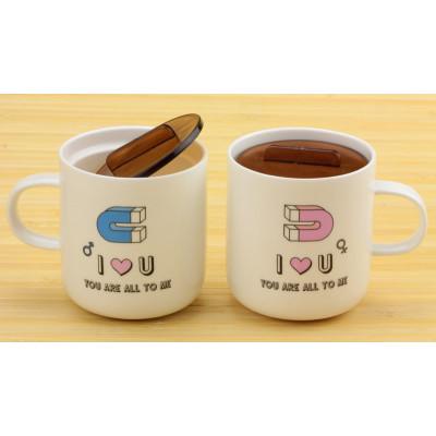 """Набір чашок Магніти любові """"Love you"""", 2 шт"""